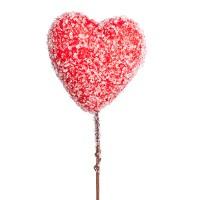 Сердце декоративное сахарное на вставке, D6хH15 см