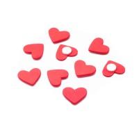 Сердечко из дерева на стикере, 1,8 см