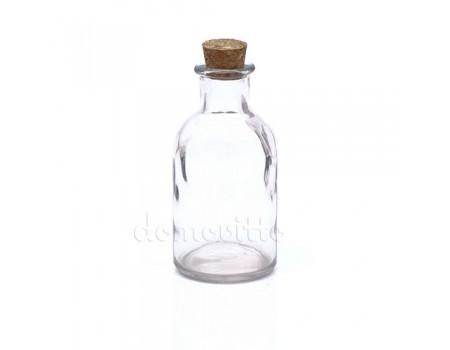 Бутылочка декоративная с пробкой, 5,5 х 11 см