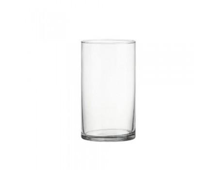 """Стеклянная ваза """"Трубка"""", d11 см, H20 см"""