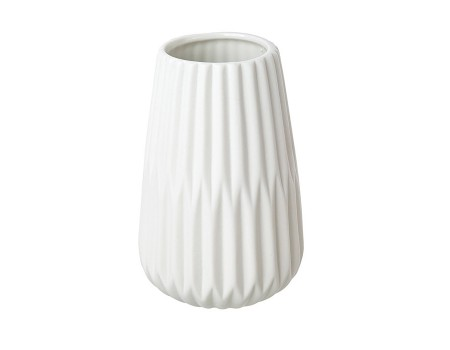 """Керамическая ваза """"Ребристая"""", 13 см. Разные цвета"""